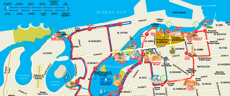 3D City Sightseeing Bus Map