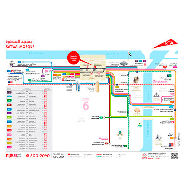 Easy-to-use transport network 'spider' maps