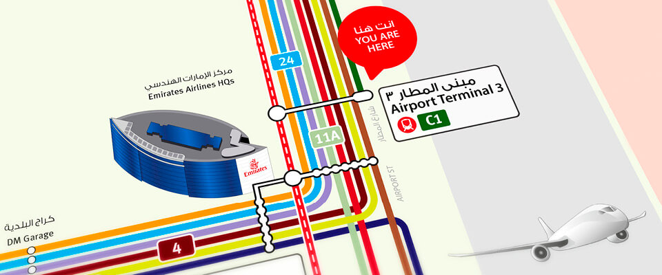 Dubai Integrated Network Route Map 2015
